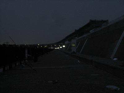 18:30くらいの堤防