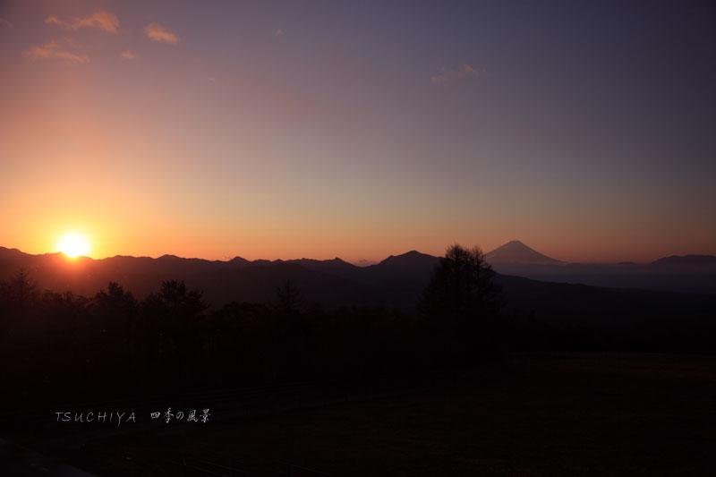 清里から見る富士山