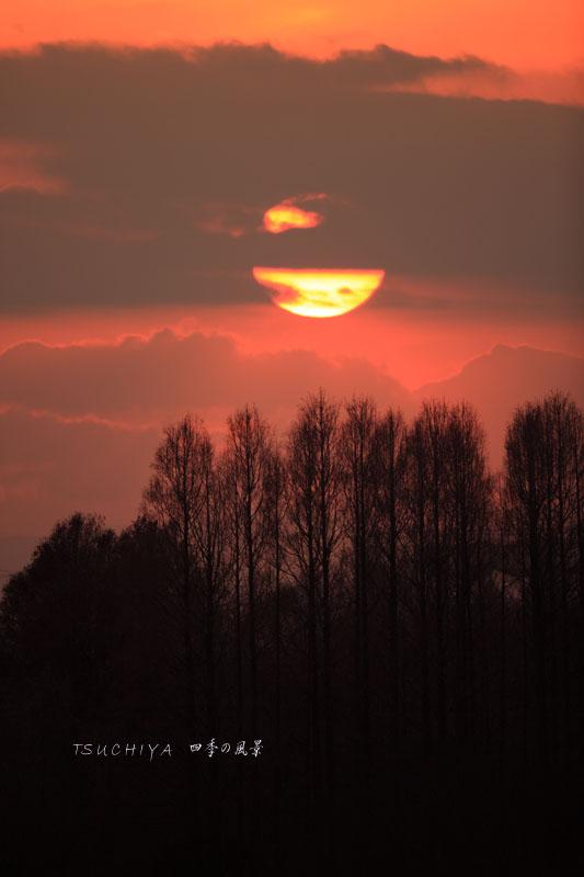 秋ヶ瀬の夕日 2