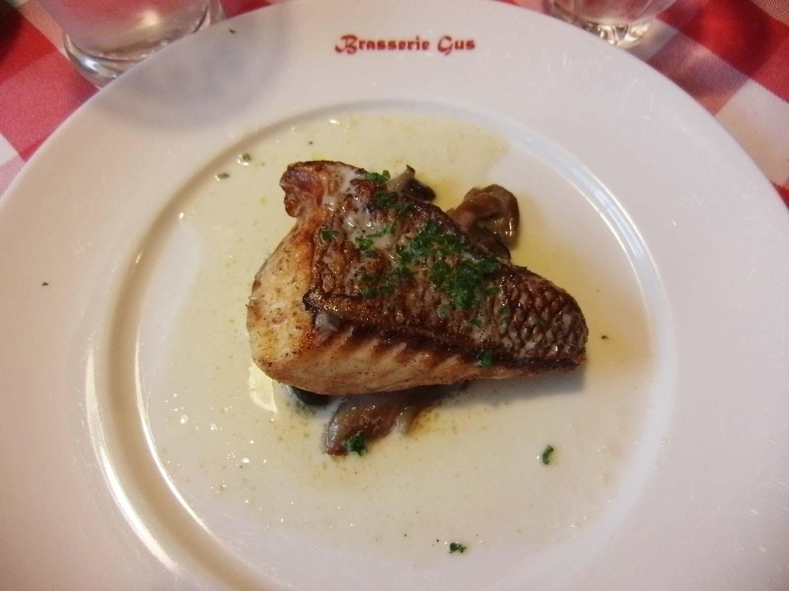 真鯛のポワレ クリームソース