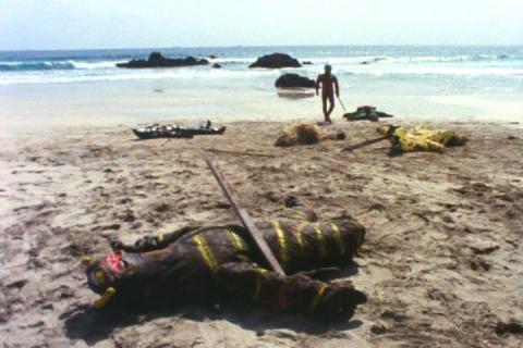 「ウルトラファイト」第195話「激闘!三里の浜」のラストシーン