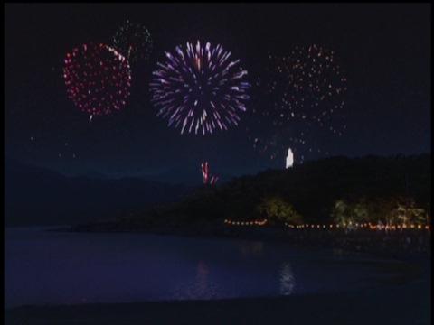 奈津川湖の花火大会