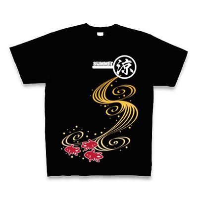 金魚すくい Tシャツ Pure Color Print(ブラック)