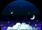 3010374星が輝く夜チェア2