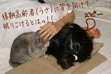 ファンちゃんとくつろぎながら居眠り・・・