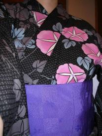 朝顔の浴衣+紫の半巾0001.jpg