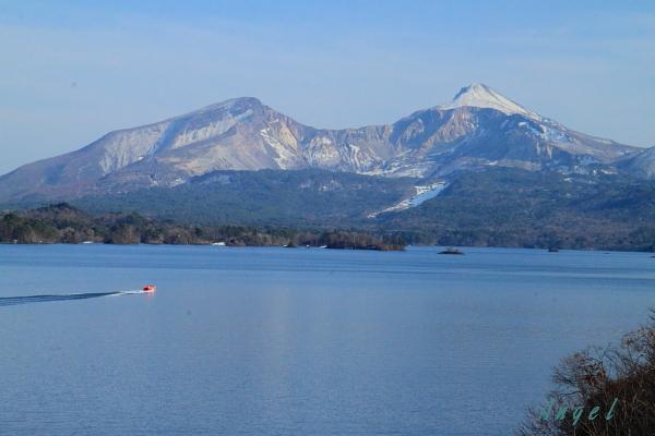 桧原湖と磐梯山(135)