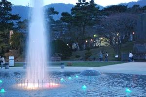 函館市函館公園の噴水