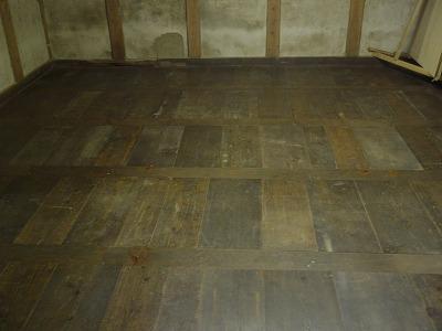 朝鮮張りの床