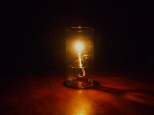チェコ製オイルランプ職人ハンドメイドガラス