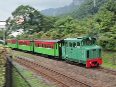 園内のトロッコ列車