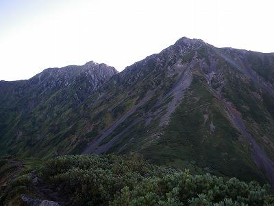 獅子岳への登り