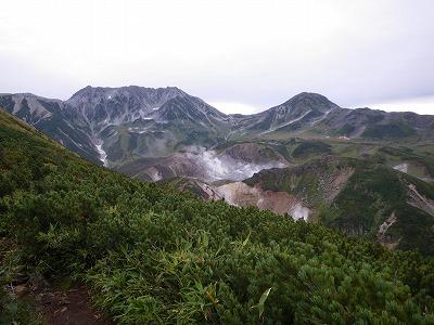 立山を一望