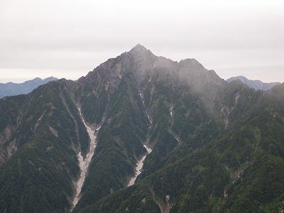 剣岳が目の前