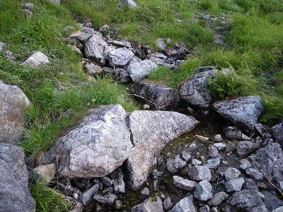 南岳カール最初の一滴