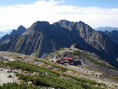 南岳小屋とキレット