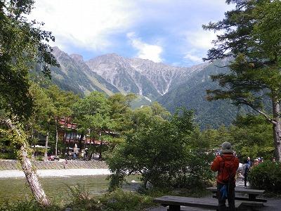 今日はきれいに見える岳沢