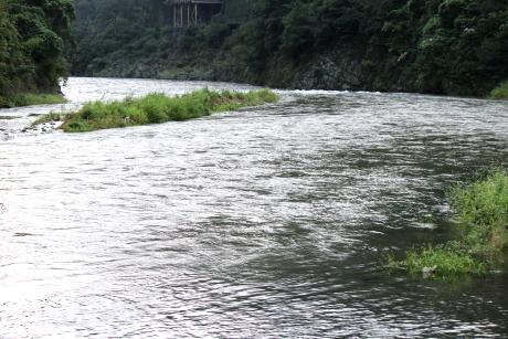 雨上がり後の川