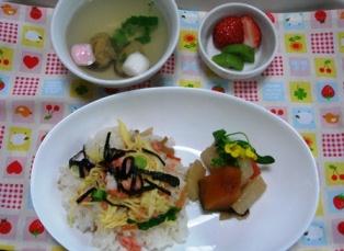 ひな祭り給食2012.3