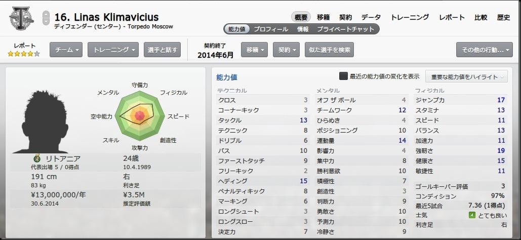 Klimavicius(2013-2014)