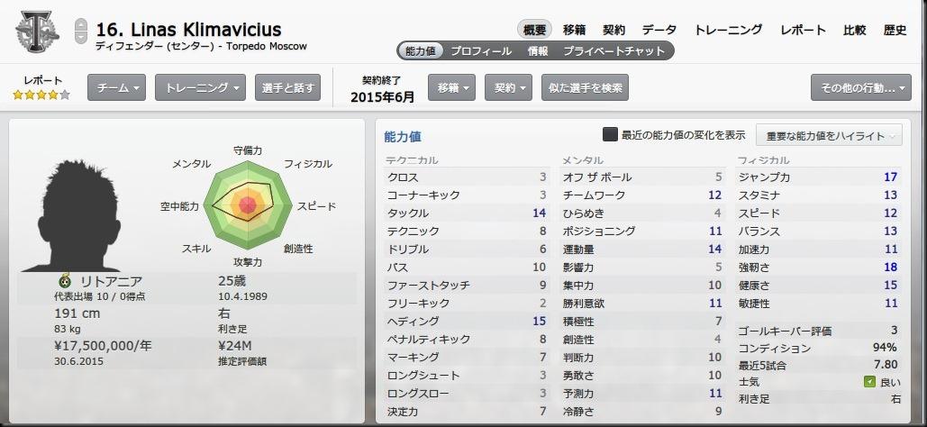 Klimavicius(2014-2015)