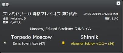 Torped.2013-2014 VS.Shinnik