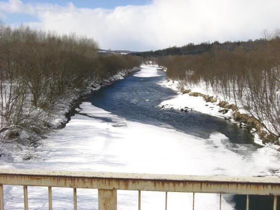 20110307_矢文橋から名寄川を望む