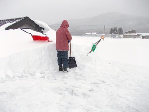 20120106_格納庫の雪下ろし1