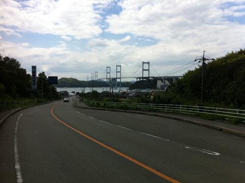 来島海峡大橋が見えた