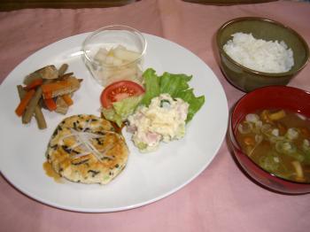 20101216豆腐と鶏肉のつくねバーガー