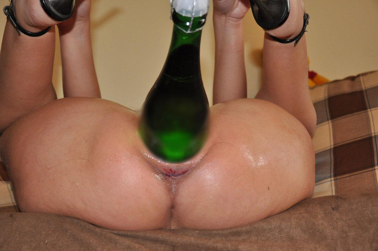 Wine bottle fuck