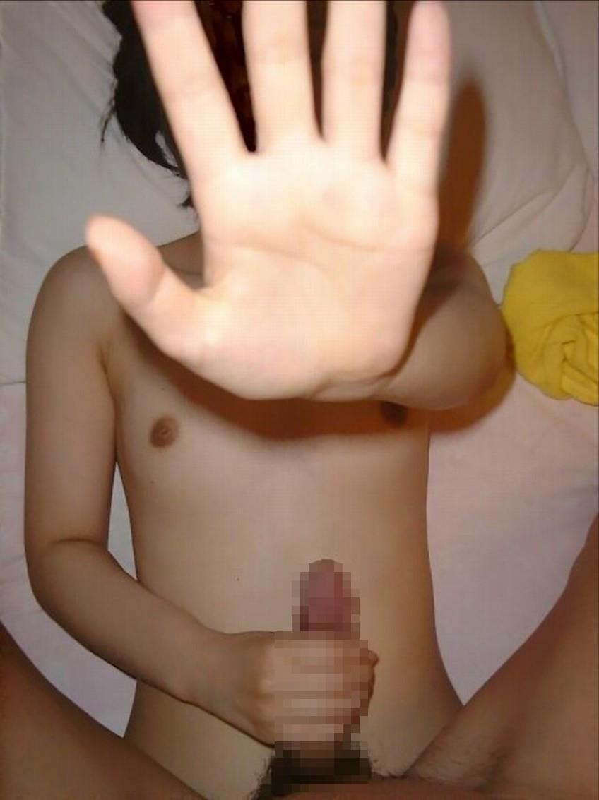 顔を隠している素人のエロ画像 2