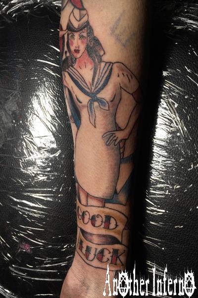 ピンナップガール pin up girl tattoo タトゥー 名古屋 栄