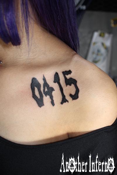 名古屋 刺青 タトゥー TATTOO 数字 文字 ワンポイント