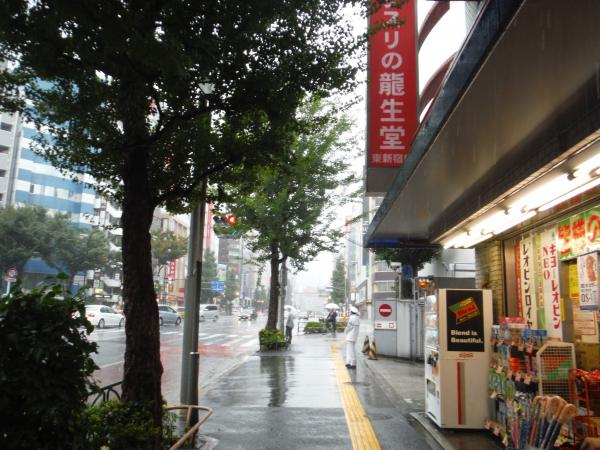 台風18号新宿三丁目