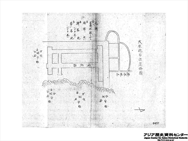 茂原砲台位置略図_R