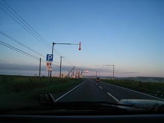 釧路国道朝焼け