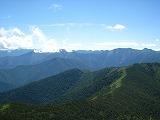 芽室岳南方視界