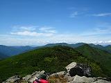 芽室岳西方視界
