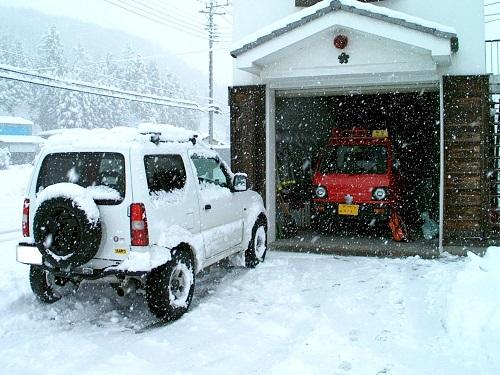 詰所雪かき1