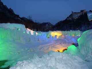 氷瀑祭りに行ってみた