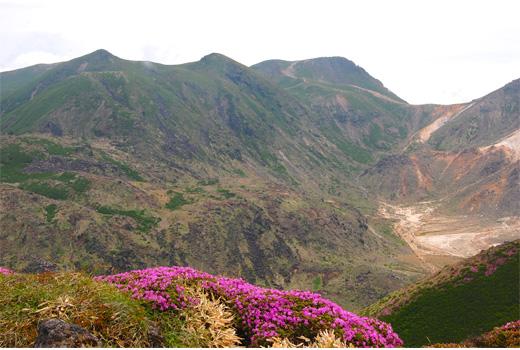 九州本土最高峰中岳と久住山