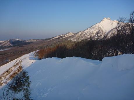 下山途中の稜線