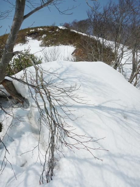ルート上の雪庇