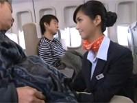 寝ている乗客を勝手に抜きまくる美人CA! 麻生希