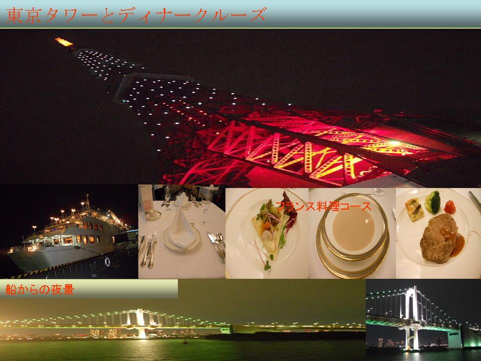 東京湾とディナー