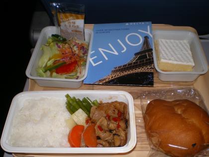 シンガポール2013.3デルタ621便機内食