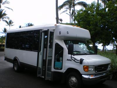 ハワイ2012.7サンドバー送迎バス