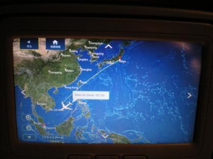 シンガポール2013.3デルタ621便モニター