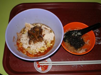 シンガポール2013.3ホーカーズきのこ麺